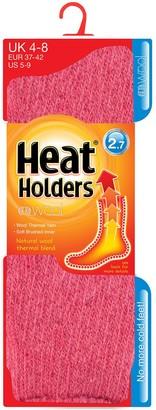 Ladies WOOL 2.7 Tog Original Thermal Heat Holders Socks 4-8 uk 37-42 eur