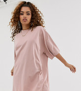 Asos DESIGN Petite oversized t-shirt dress