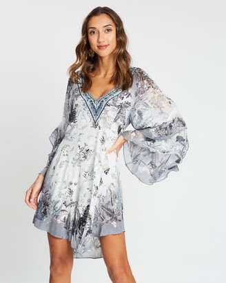 Camilla Raglan Dress with Ruffles