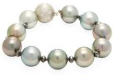 Tahitian Pearl & 6.86 Total Ct. Black & White Diamond Bracelet