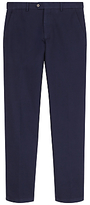 Jaeger Waffle Textured Cotton Slim Fit Chinos, Navy