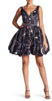 Mac Duggal Sweetheart Neck Galaxy Dress