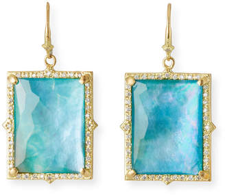 Armenta Sueno 18k Peruvian Opal Triplet Drop Earrings