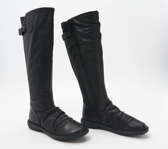 Miz Mooz Leather Ruched Tall Shaft Boots - Palmer