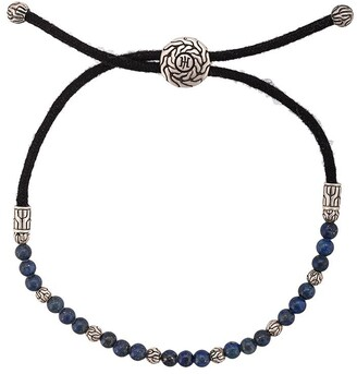 John Hardy Silver Classic Chain Lapis Lazuli Bead Pull Through Bracelet