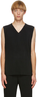Homme Plissé Issey Miyake Black Colorful Pleats Tank Top