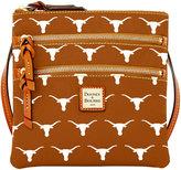 Dooney & Bourke Texas Longhorns Triple Zip Crossbody Bag