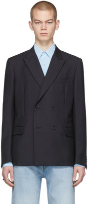 Valentino Navy Double-Breasted Sports Blazer