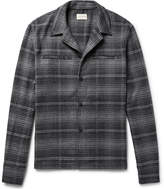 Simon Miller Camp-Collar Checked Brushed-Cotton Flannel Shirt