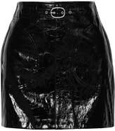 Rag & Bone Toni Patent-leather Mini Skirt - Black