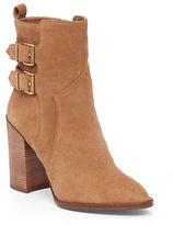 BCBGeneration Savanna Buckled Suede Ankle Boots