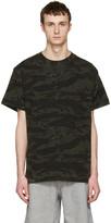 Alexander Wang Green Camouflage Back Panel T-Shirt