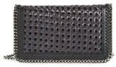 Stella McCartney 'Falabella - Caned' Faux Leather Crossbody Bag - Black