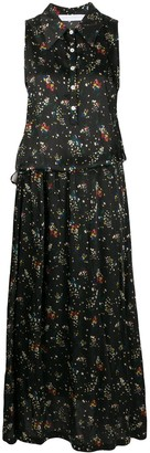 Societe Anonyme Floral-Print Dropped-Waist Shirt Dress