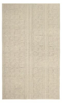 """French Connection Robbe Stonewash Printed Cotton Beige Area Rug Rug Size: Rectangle 2'6"""" x 4'2"""""""