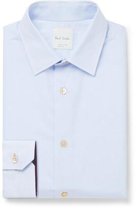 Paul Smith Slim-Fit Pinstriped Cotton-Poplin Shirt