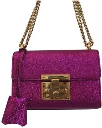 Gucci Padlock Metallic Leather Handbags