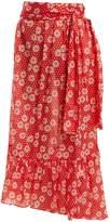 Lisa Marie Fernandez Nicole floral-print asymmetric-hem skirt