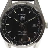 Tag Heuer Carrera Twin-time WV2115 Stainless Steel with Leather Belt Automatic 38mm Men's Watch