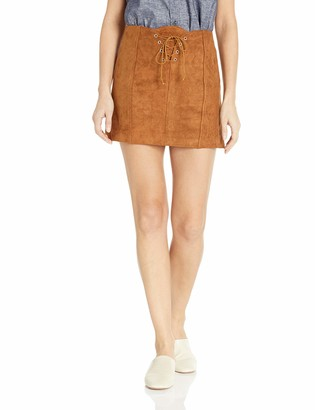 Raga Women's Faux Suede Short Mini Skirt