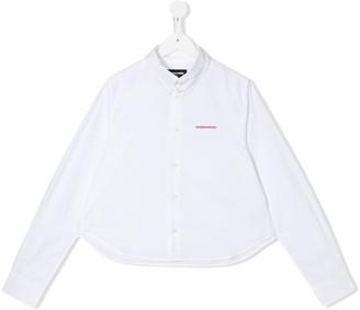 DSQUARED2 TEEN long-sleeved logo shirt