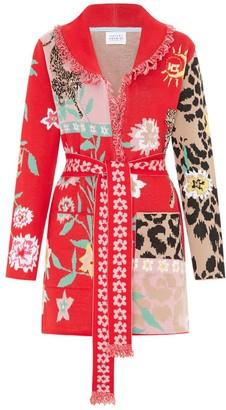 Enchanted Leopard Short Cardigan Red/Pink