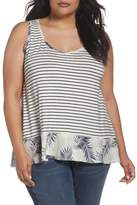 Caslon R) Mix Print Tank (Plus Size)