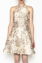 Dress the Population Floral Brocade Dress