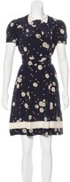 Jill Stuart Silk Polka Dot Print Dress