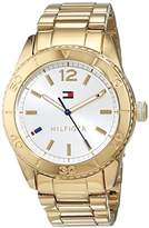 Tommy Hilfiger Ritz Women's Quartz Watch with Silver Dial Analogue Display and Rose Gold Bracelet 1781268