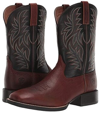 Ariat Sport Western Wide Square Toe (Cognac Candy/Black) Cowboy Boots
