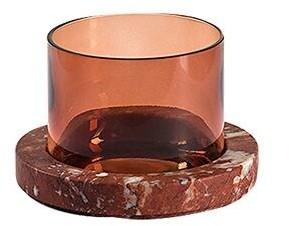 Salvatori Pietra L 10 Rosso Francia & Glass Vase
