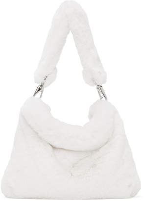 Stand Studio White Teddy Luna Bear Bag