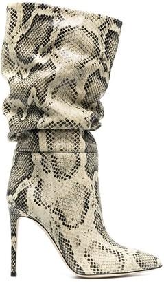Paris Texas Snakeskin Print Pointed Boots