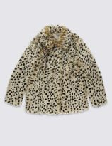 Marks and Spencer Animal Print Faux Fur Coat (5-14 Years)