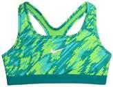 Nike Big Girls' (7-16) Pro Printed Training Bra-Green-Large