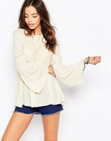 Only Open Back Bell Sleeve Tunic