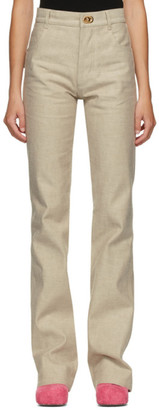 Bottega Veneta Beige Raw Denim Jeans