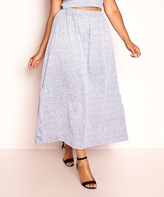 Gray Maxi Skirt - Plus Too