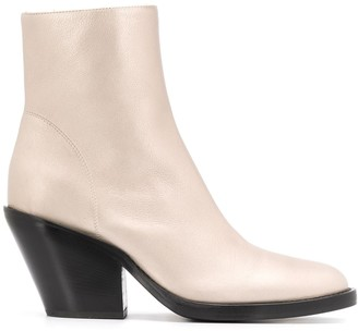 Ann Demeulemeester Side Zipped Ankle Boots
