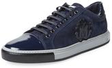 Roberto Cavalli Suede Low Top Sneaker