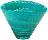 Murano Glass Splendore Collection Emerald Shore 12In Vase