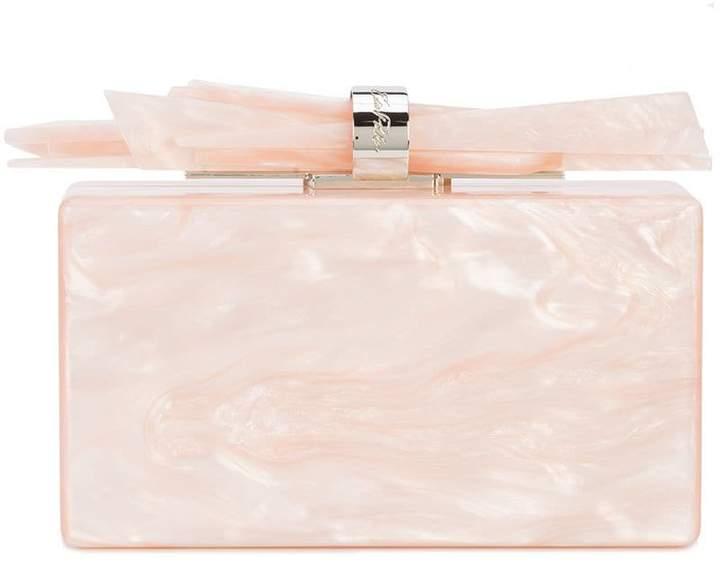 Edie Parker Wolf pearl effect clutch bag