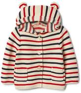 Gap Stripe Bear Button Sweater