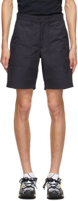 Norse Projects Navy Aaro 60/40 Fatigue Shorts