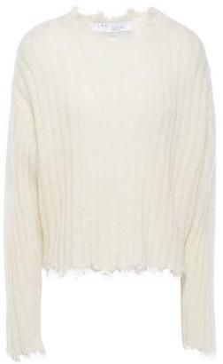 IRO Deed Distressed Ribbed Wool-blend Sweater