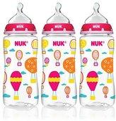 NUK BPA Free 10oz Whimsy Bottles 3 PK - Girls