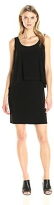 Tiana B T I A N A B. Women's Sleeveless Sold Knit Popover Dress