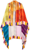 Etro Fringed Silk-jacquard Wrap - Yellow