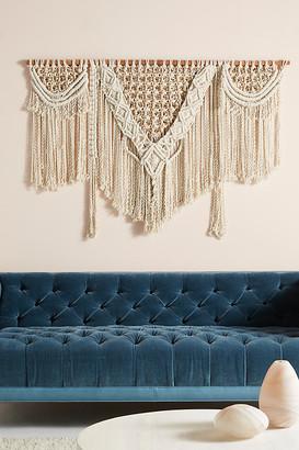 Anthropologie Handwoven Lenny Wall Hanging By in Beige